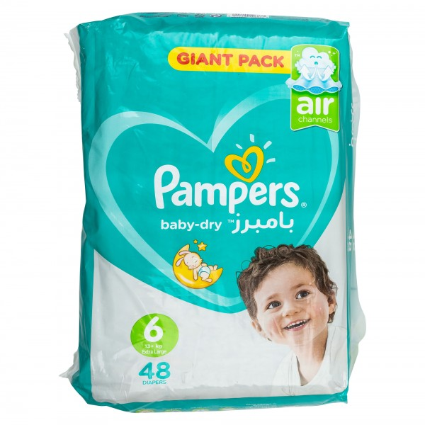 Pampers Mega Pack Size 6 48 Diapers