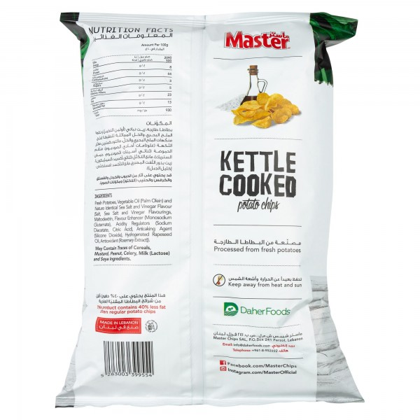 Master Kettle Sea Salt + Vinegar 144g