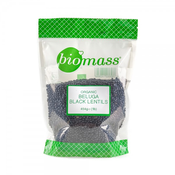Biomass Biomass Organic Dried Black Beluga Lentils