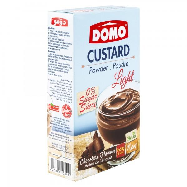 Domo Custard Light Chocolate 100G