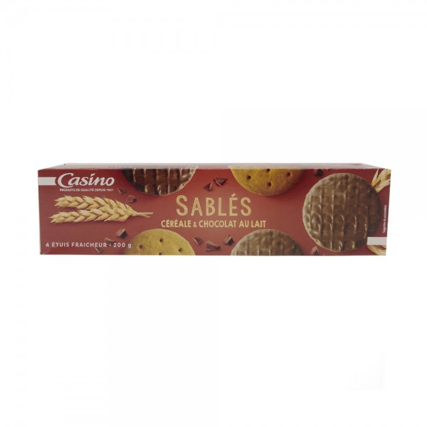 BISCUIT SABLE CEREALE CHOC