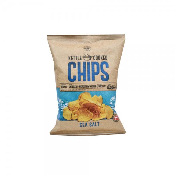 Crispy Kettle Cooked Chips Seasalt 150G