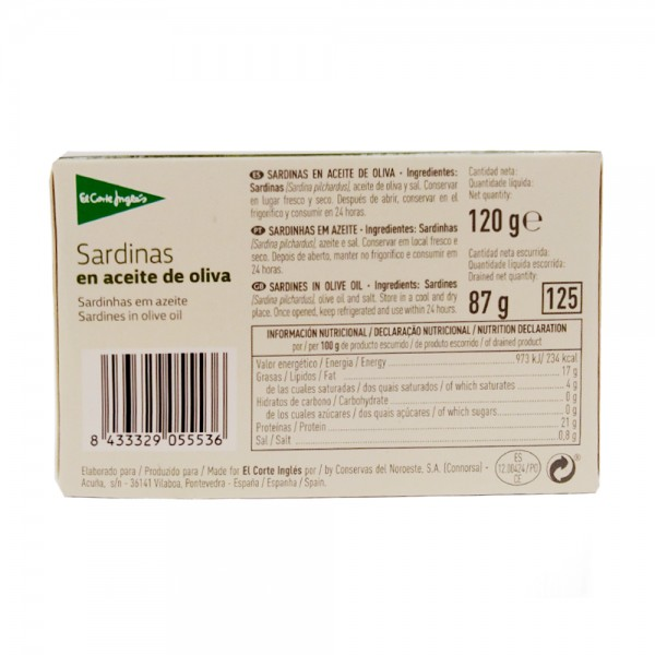 SARDINES OLIVE OIL 3TO5PIECES