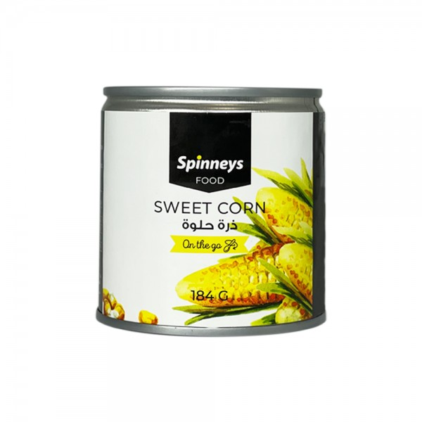 Spinneys Sweet Corn 184g + Cap + Spoon