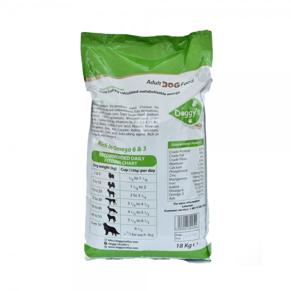Doggy's High Protein Dog Food 18Kg