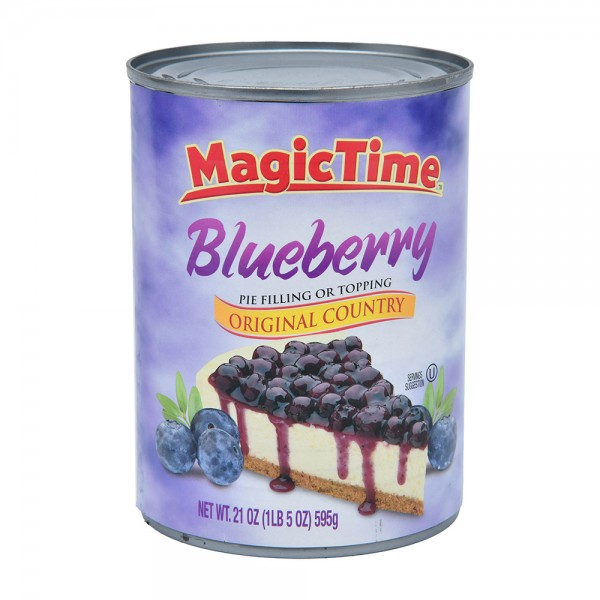 Magic Time Blueberry Pie Filling Or Topping 595G