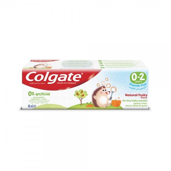 Colgate 0% Artificial 02 Years Fluoride Free Kids Toothpaste 40ml