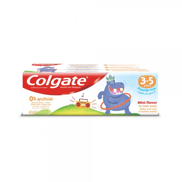 Colgate 0% Artificial 35 Years Fluoride Free Kids Toothpaste 40ml
