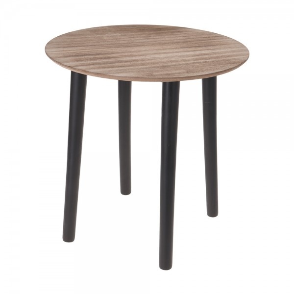 Eh Wooden Side Table Brown - 30X30Cm