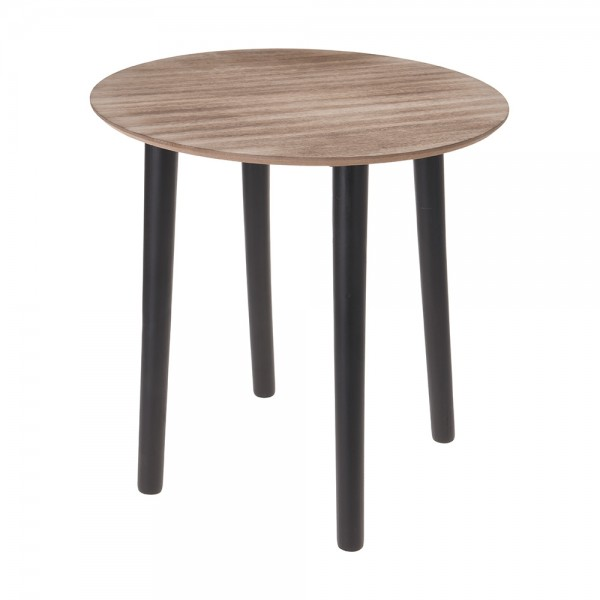 Eh Wooden Side Table Brown - 40X40Cm
