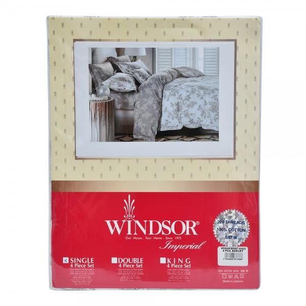 Windsor Bedset Satin Ashley Single - 4Pc