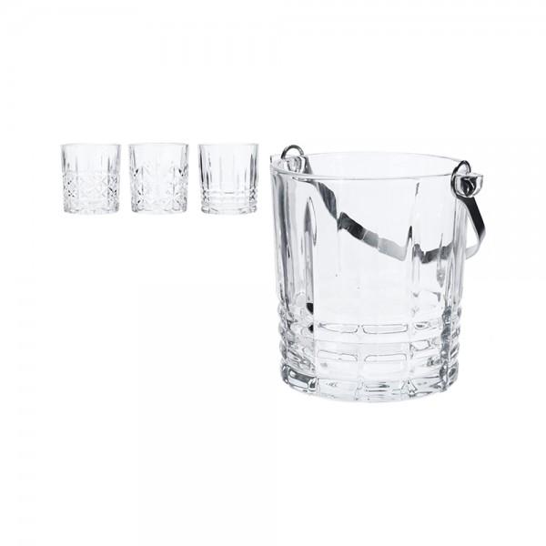 ICE BUCKET W.TONG +4 GLASSES