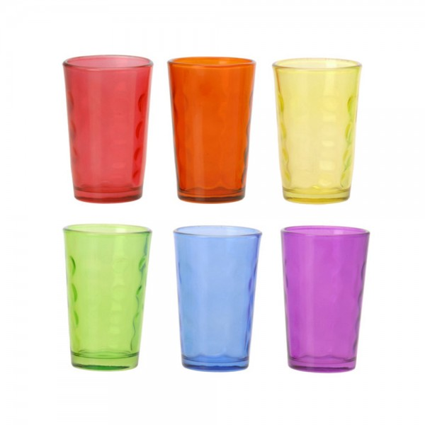 DRINKING GLASS CUP SET MIXED COLOR