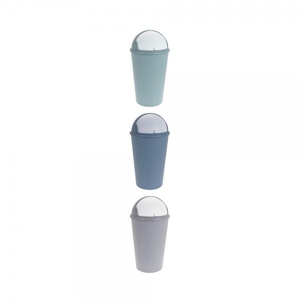 TRASH BIN PLASTIC MIXED COLOR