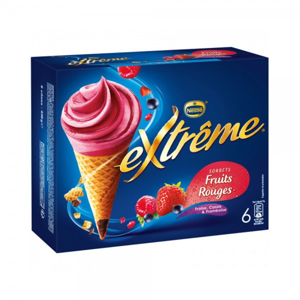 6 CONE FRUITS ROUGES