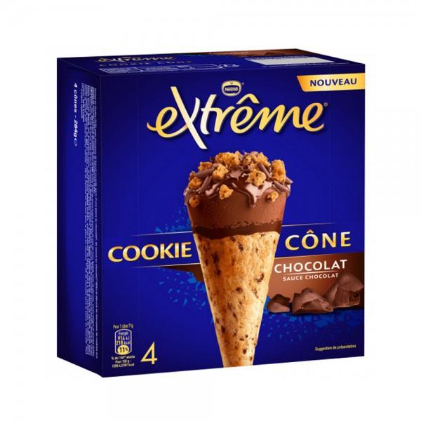 4 COOKIE CONE CHOCOLAT