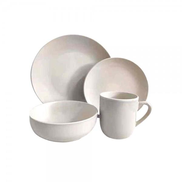 STONEWARE DINNER SET DARK GREY OR IVORY