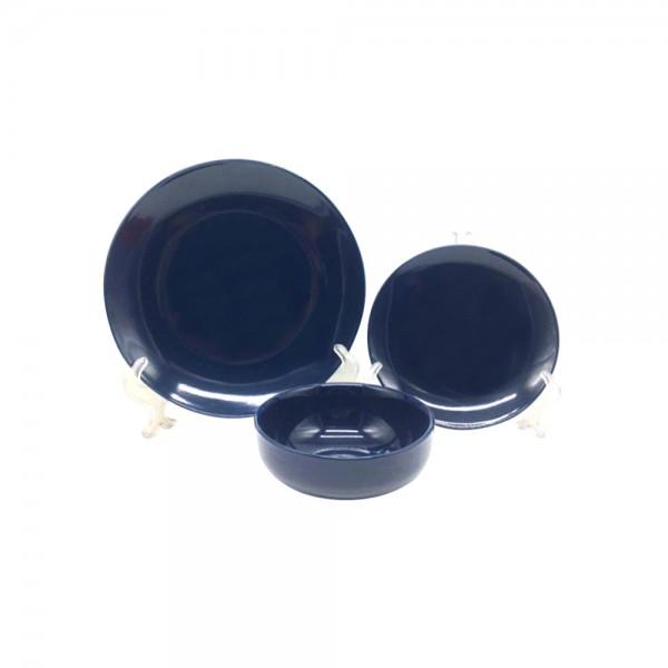 STONEWARE DINNER SET BLACK OR NAVY BLUE