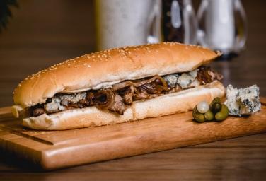 Gourmet Cheese Steak Sandwich