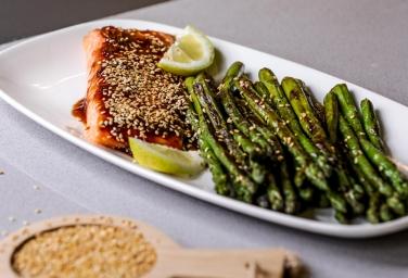 Teriyaki Salmon With Roasted Asparagus